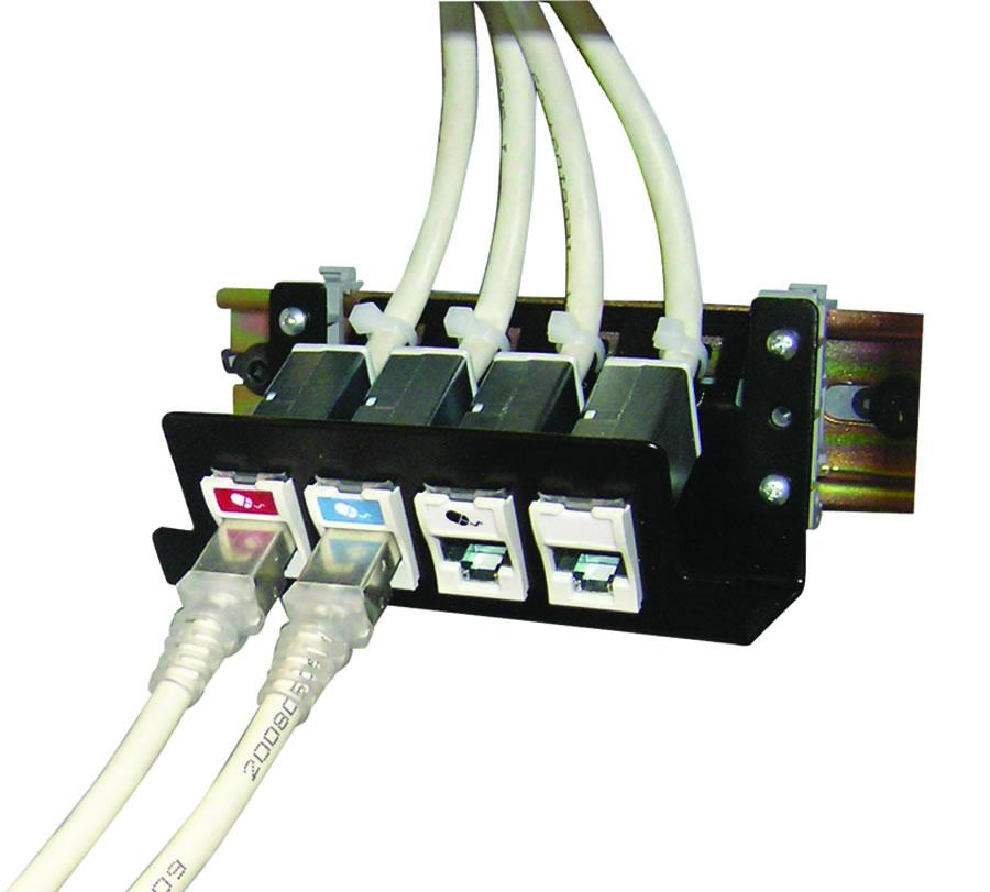 Розетки и устройства с креплением на DIN-рейку SIEMON DIN-PNL-04-01 0cd9abc4aee