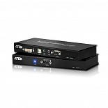 ATEN CE600-A7-G Удлинитель, DVI Single Link+KBD&MOUSE USB+AUDIO+RS232, 60 метр., DVI-D+2xUSB A-тип+2xMINI JACK+DB9, Female, с KVM-шнуром USB DVI-D Single Link 1x1.8м., Б.П. 220> 5.3V, (макс.разреш.1920х1200 60Hz (30м)/1024x768 60Hz (60м);защита ESD)